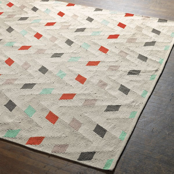 Natural rug with bright accents