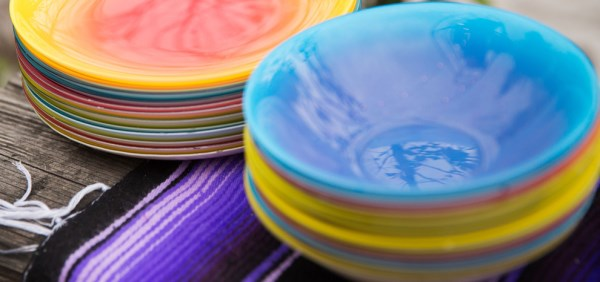 Ombre plates and bowls