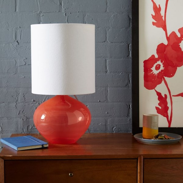 Opaque glass lamp