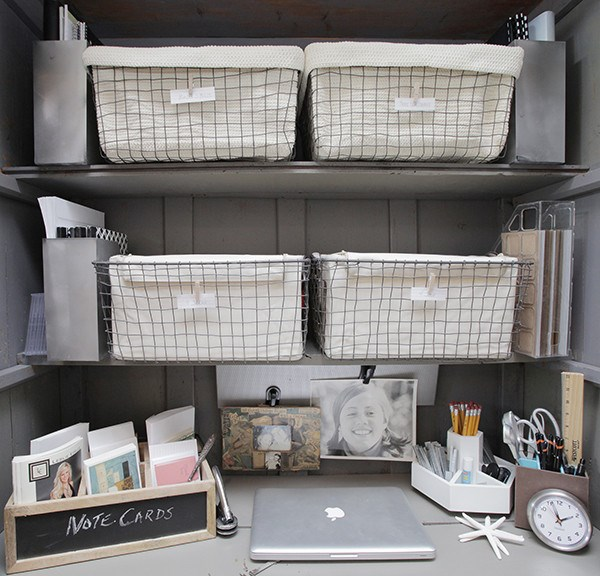 Organized home office nook