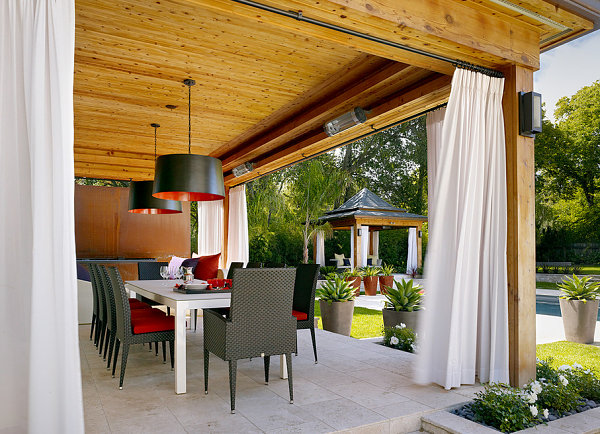 View in gallery Outdoor lounge white curtains Turn Your Patio Into A  Stylish Outdoor Lounge