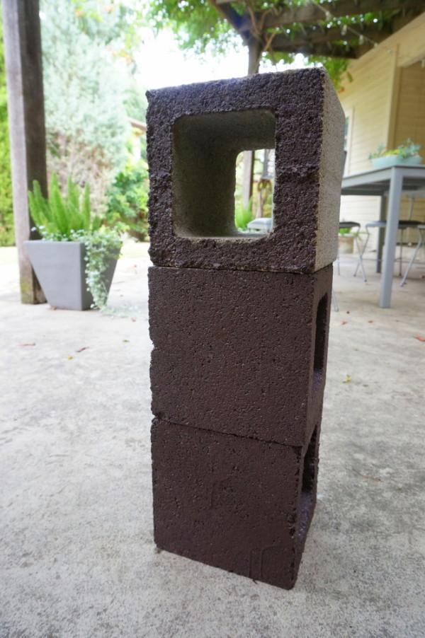 Paint your cinder blocks
