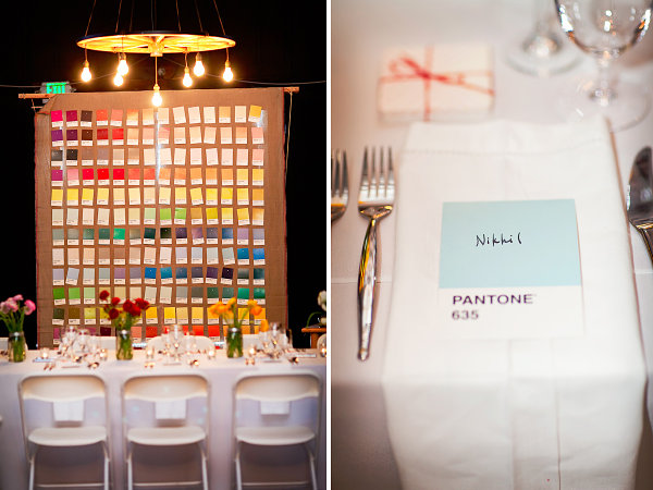 Pantone-inspired table settings