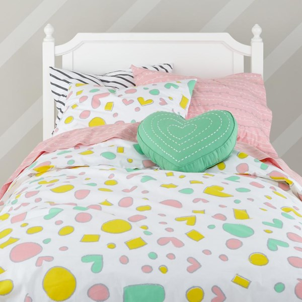 Pastel kids' bedding designed by Joy Cho