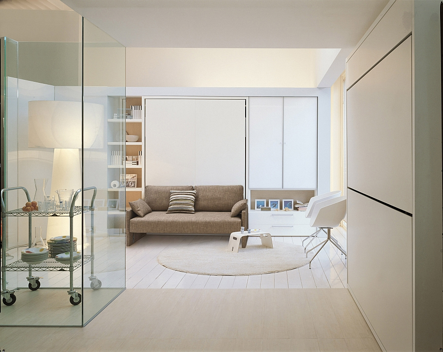 Penelope transformable sofa and murphy bed system from CLEI