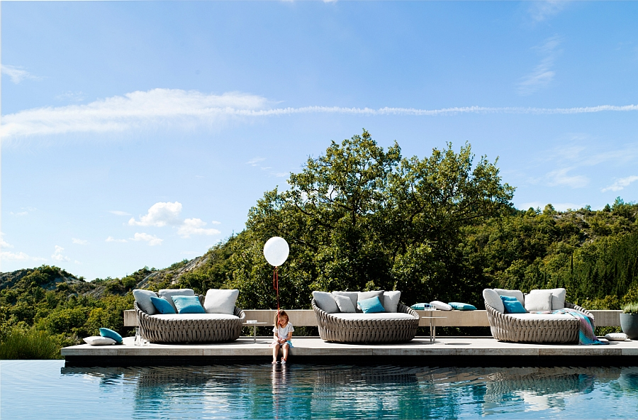 Perfect contemporary daybeds for the poolside deck