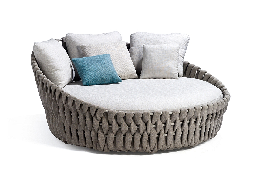 Pleasant contemporary daybed with comfortable outdoor cushions