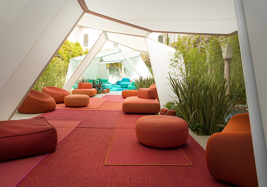 Plush outdoor seating ideas for those who love bright hues