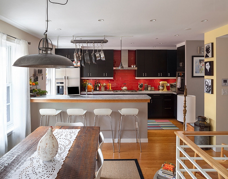 Red is one of the most popular kitchen backsplash colors
