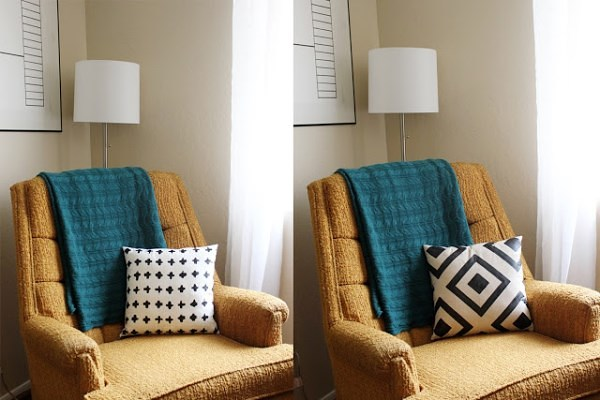 Reversible pillow project