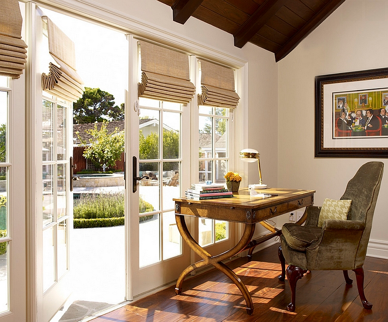 Shift between privacy and lovely views with ease thanks to the Roman Shades