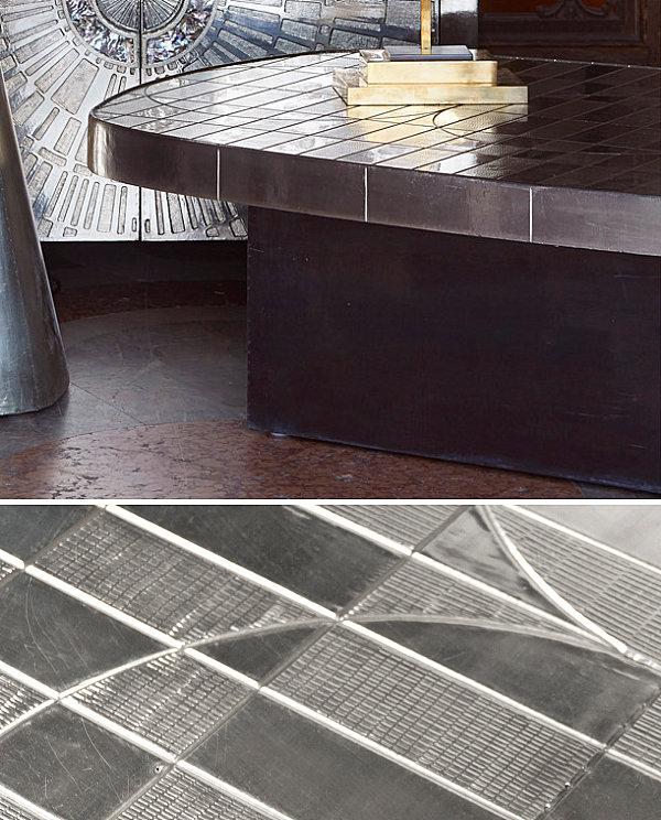 Shiny geometric coffee table from Jonathan Adler