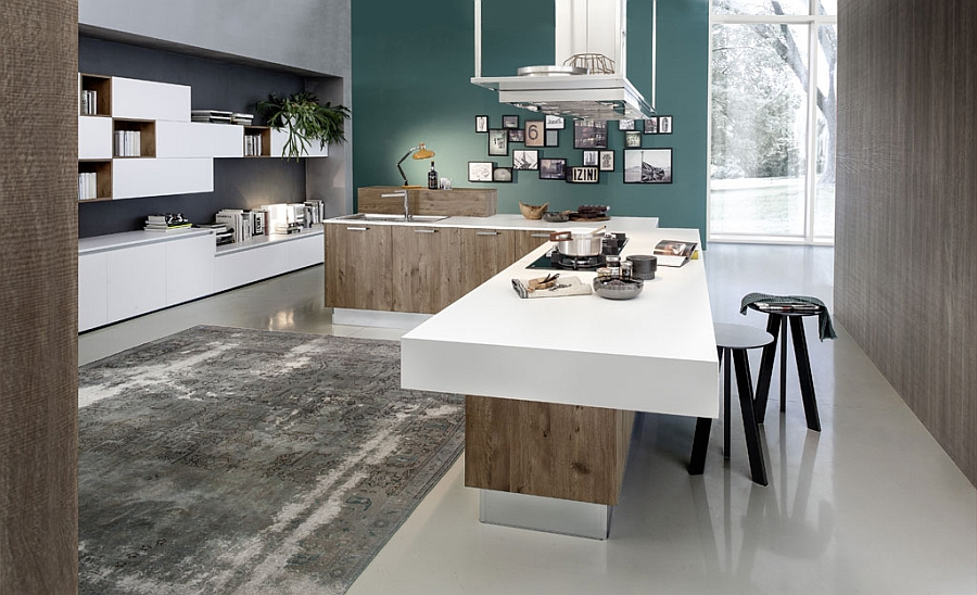 Simple lines and minimalist design of the eco-friendly Italian kitchen
