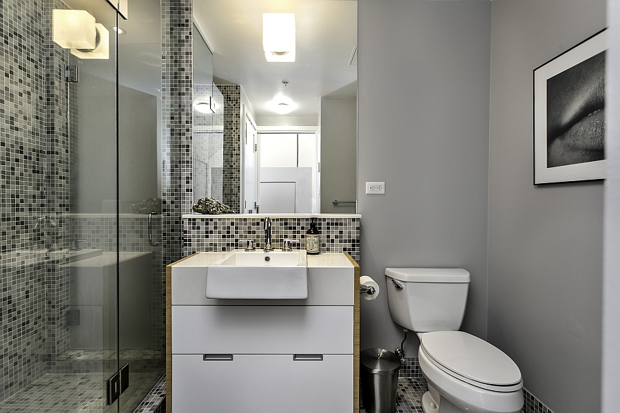 Dramatic views and a snazzy interior shape loft style for Dramatic bathroom designs