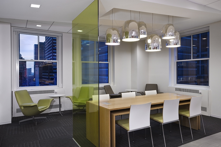 Smart colorful glass partitions for trendy, contemporary interiors