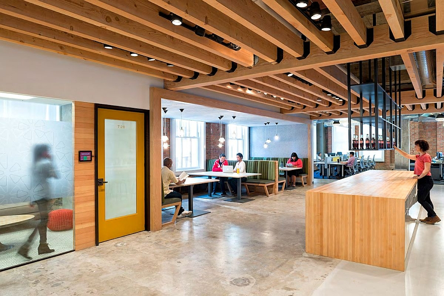 View In Gallery Smart Design Of The Yelp Office By O Plus A Combines Casual And Contemporary