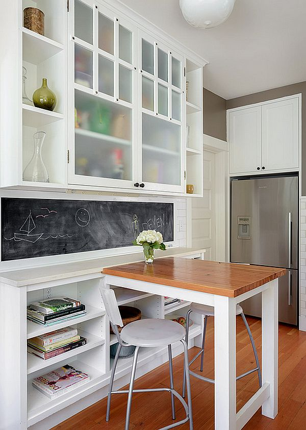 Smart homework zone for the kids in the kitchen
