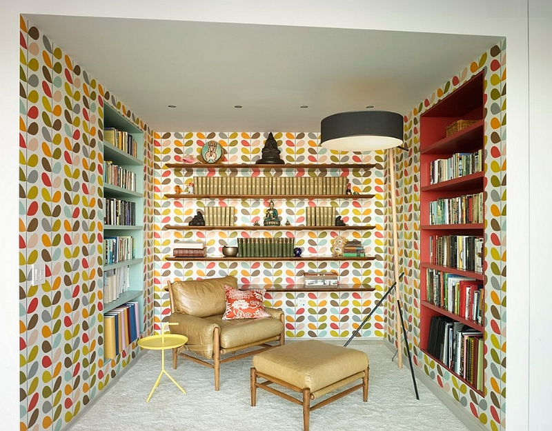 Smart study steals the show with its cozy appeal and colorful wallpaper