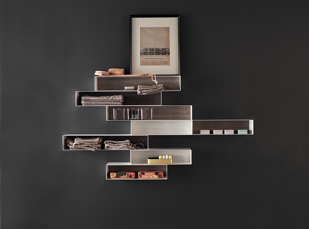 Smart wall -mounted cabinets and display units for the modern bath
