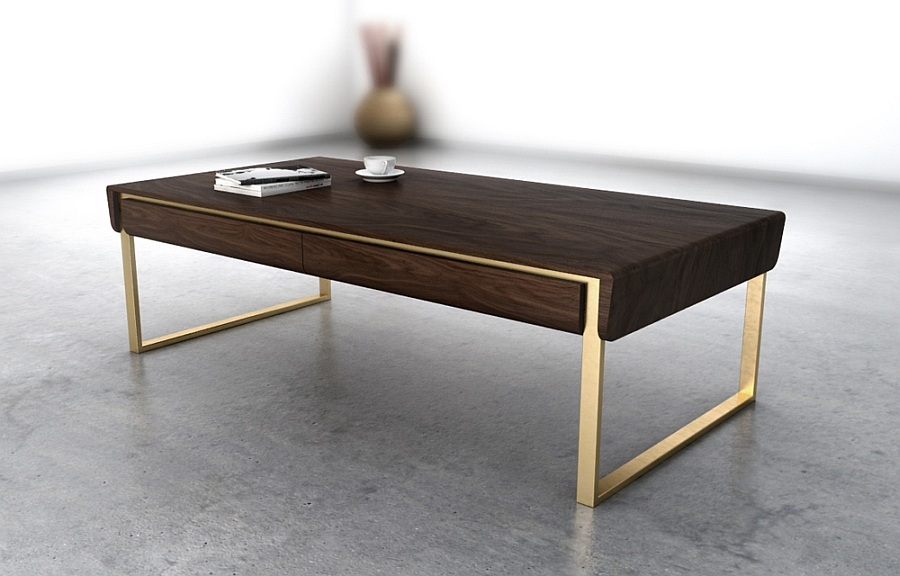 Smart wooden coffee table makes a bold visual impact