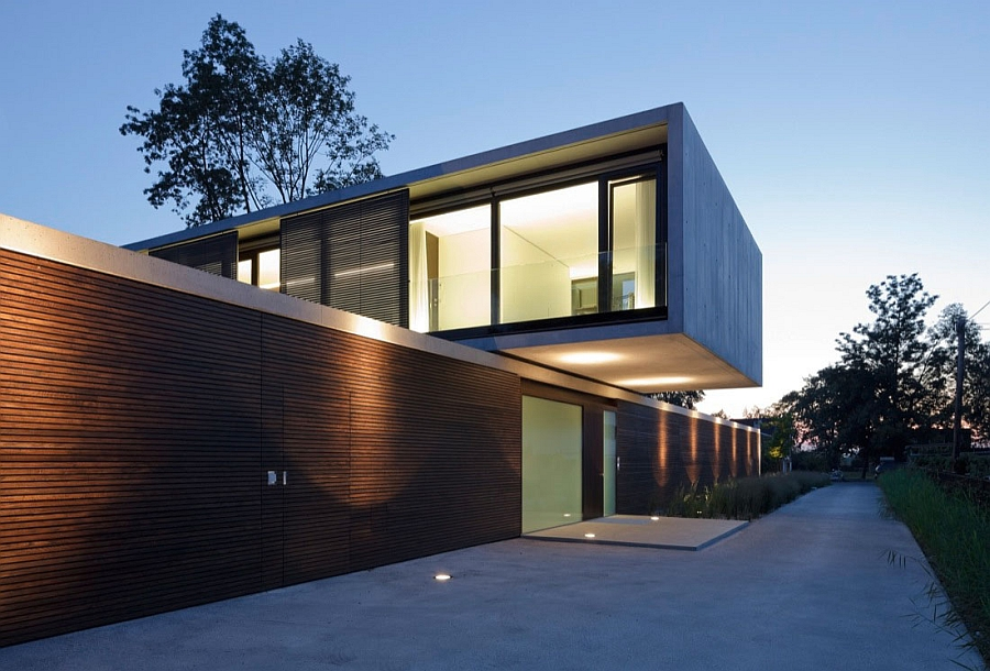 Smart wooden slats conceal the interior from prying eyes