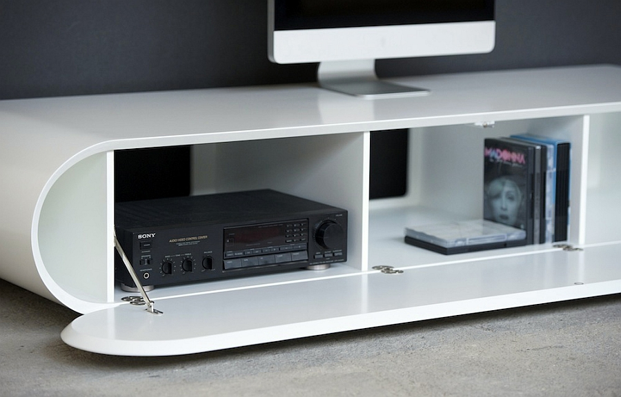 Smartly hidden racks help with all your storage needs