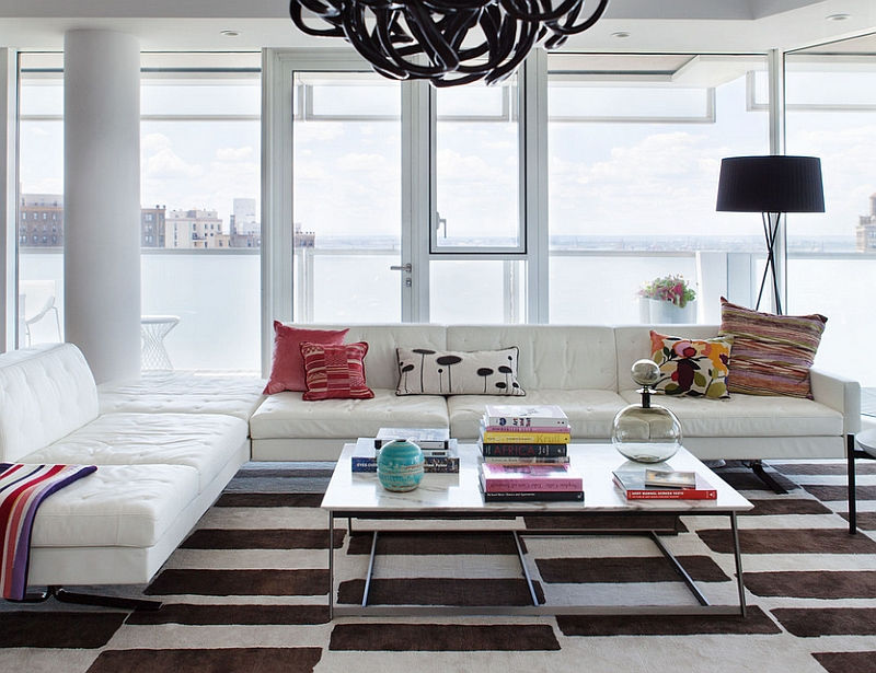 Soho style New York Apartment living room in black and white