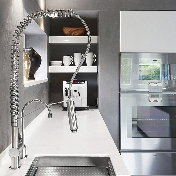 Stainless Steel Kitchen Faucets Ideas