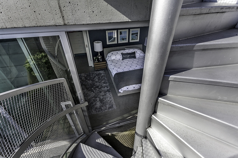 Staircase leading to the private deck from the master bedroom