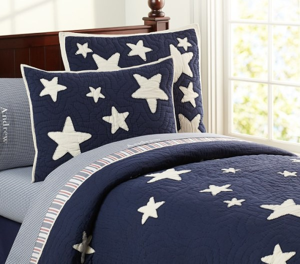Starry quilted bedding