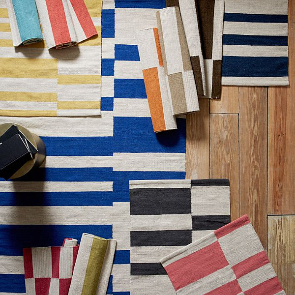 Striped rugs from West Elm
