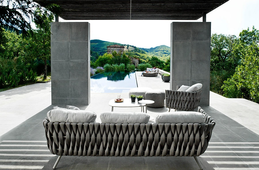 Stylish and inviting Tosca outdoor sofa by Tribu