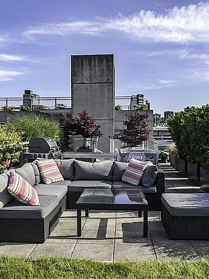 Terrace of the lovely Vancouver Apartment
