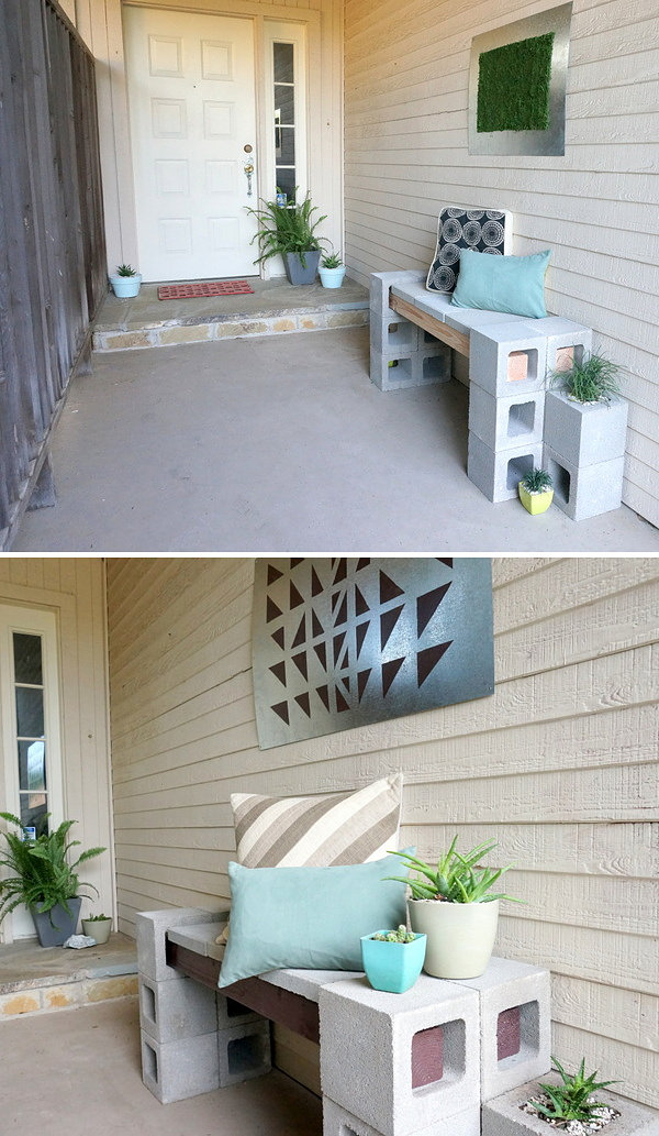 The evolution of a front patio