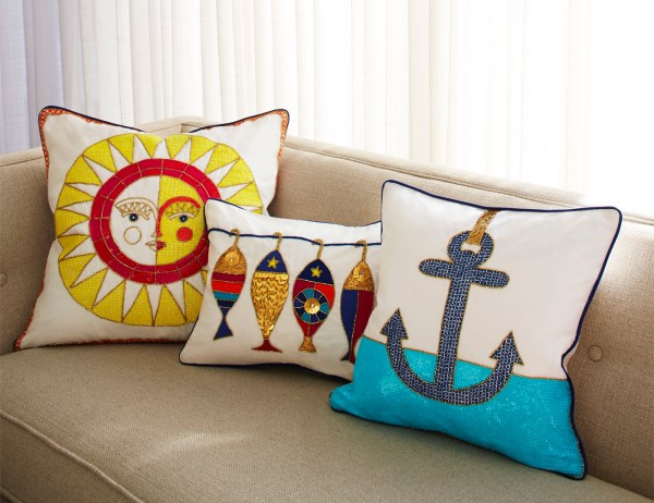 Throw pillows from Jonathan Adler
