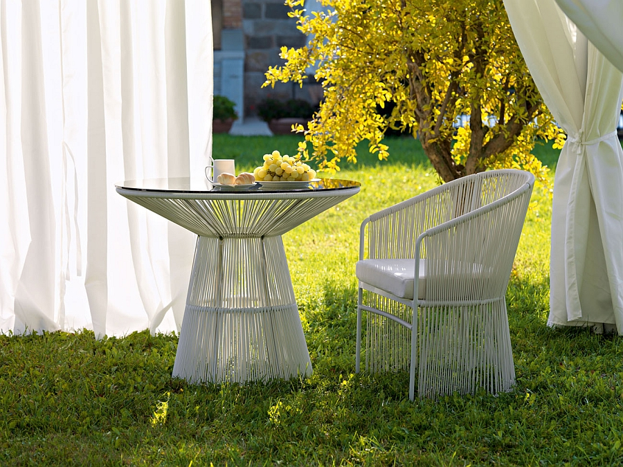 Tibidabo Outdoor Arcmchair and table for the patio Luxurious Outdoor Decor Collection To Enliven Your Relaxed Summer Lounge!