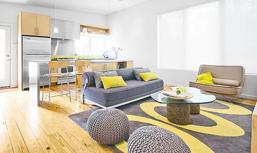 living room design gray and yellow  Gray And Yellow Living Rooms: Photos, Ideas And Inspirations