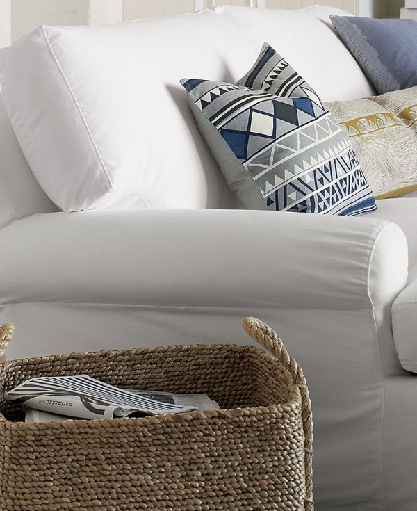 Tribal geo pillow in shades of blue, gray and black