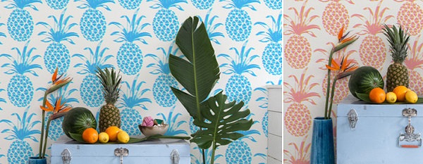 Tropical vignettes featuring Aimee Wilder wallpaper 3 Refreshing Summer Party Themes