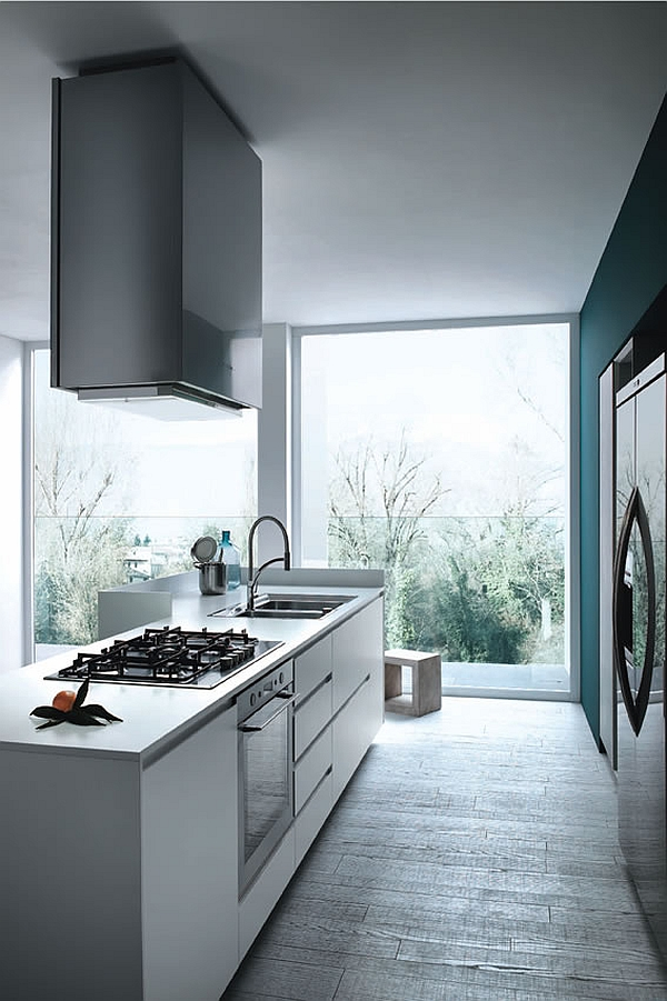 Varying compositions of Mila work well even in small, narrow kitchens