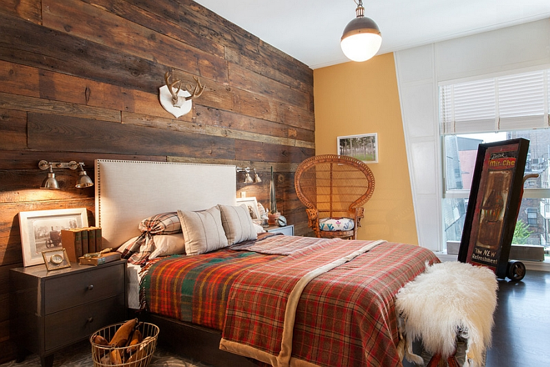 Versatile Hicks pendant looks cool even in the rustic bedroom!