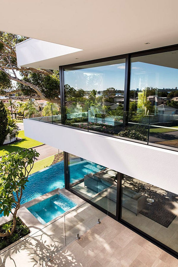View from the pivate balcony of the Perth house