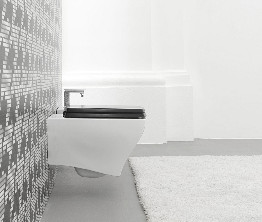 Wall-mounted sanitaryware from Artceram inspired by the retro