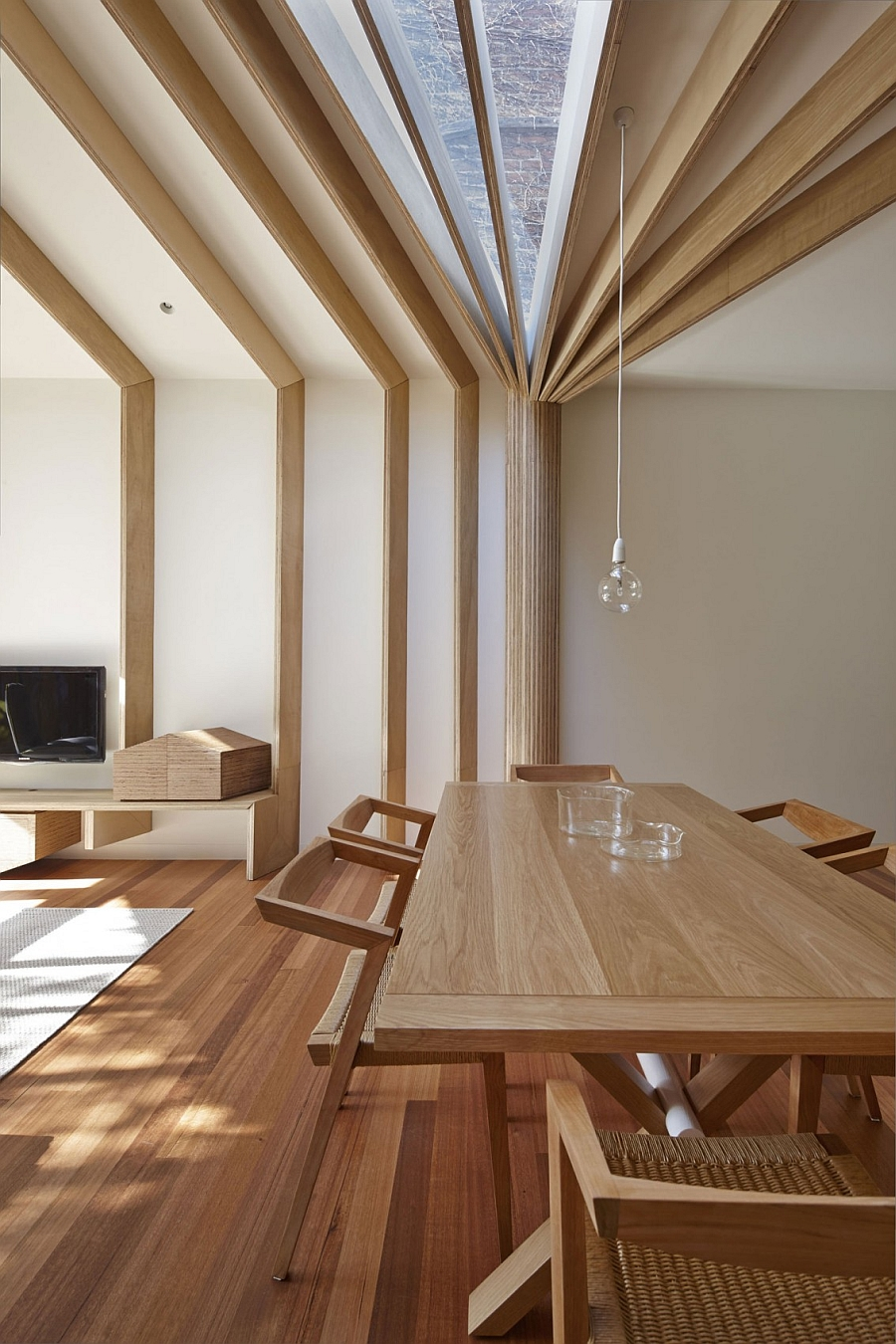 Wood gives the home a warm, contemporary appeal