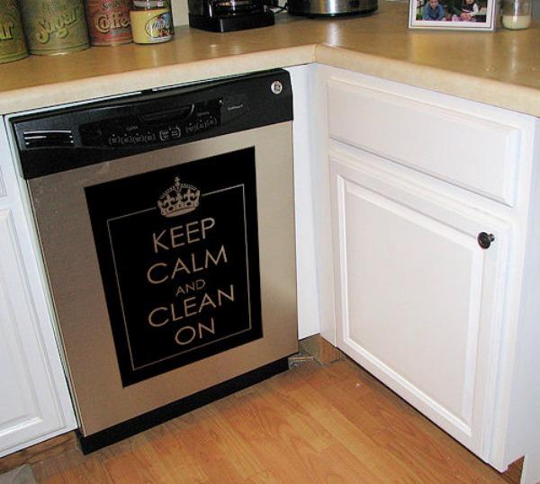 keep calm dishwasher makeover