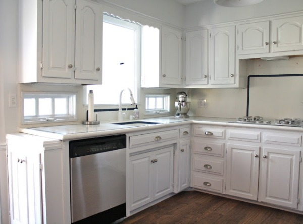 kitchen remodel using syainless steel contact paper