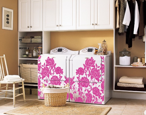 washer dryer pink makeover