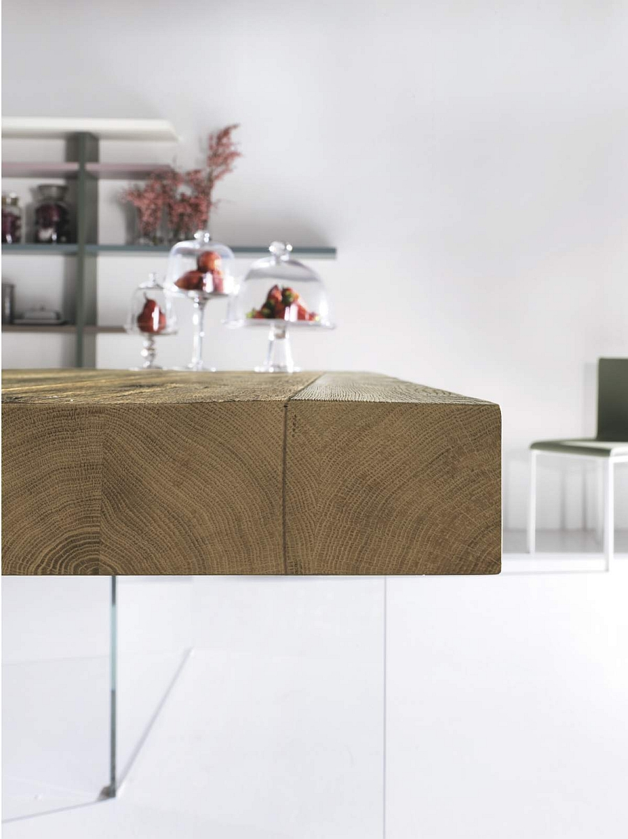 A closer look at the Air Wild wood dining table