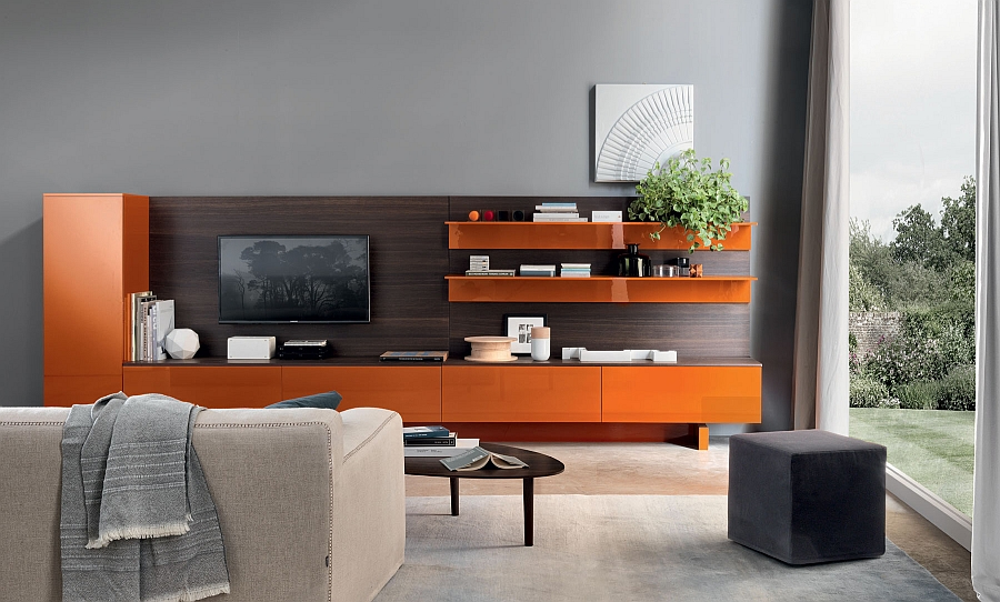 A hint of orange goodness for the playful living room
