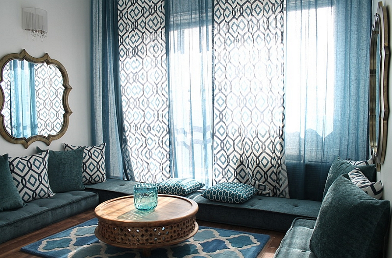 ... Moroccan Lighting And Decor. By Gordon Stein Design. View In Gallery A  Living That Is Draped In Blue!  Moroccan Interior Design Ideas